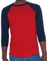 Unisex Poly-Cotton ¾ Sleeve Raglan T-Shirt